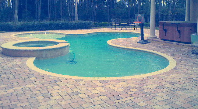 An image of a clean pool