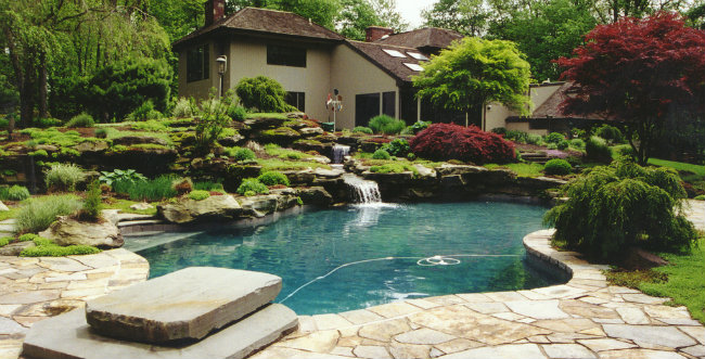 An image of a back yard prepared for summer