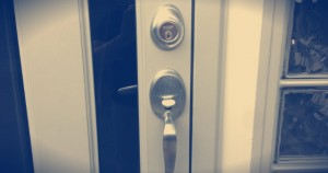 An image of a new door lock that has been installed