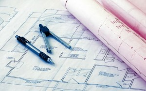 An image of blue prints
