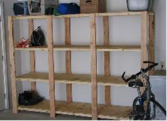 Building your own storage shelf